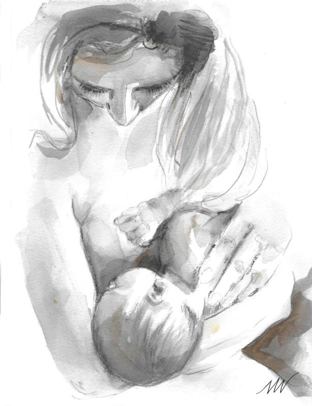 juiste houding borstvoeding
